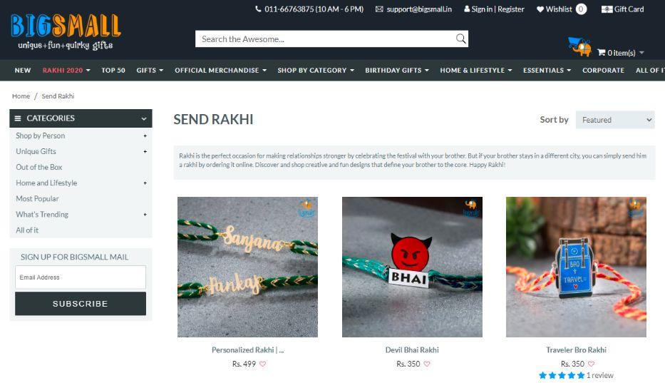 Bigsmall Raksha Bandhan Gifts
