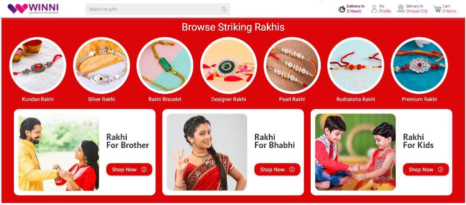 Winni Rakhi Online