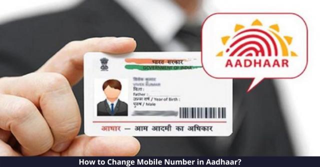 Change Mobile Number in Aadhaar